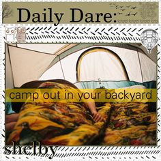 """camp out in your backyard!"" by the-daily-dare ❤ liked on Polyvore"