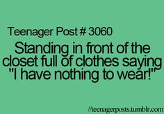 That is why Im always wanting to save money for some new clothes. But the money never comes fast enough.
