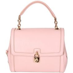 Dolce & Gabbana Light Pink Leather Day Bag