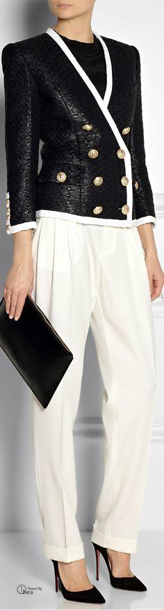 Balmain ● Jacket & Wool tapered pants