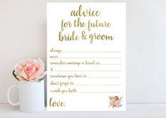 Wedding Advice Cards, good for reception entertainment