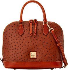 Ostrich Zip Zip Satchel Handbag Accessories, Women Accessories, Zip Zip, Travel Shoes, Blue Fashion, Shoe Sale, Dooney Bourke, Satchel, Leather