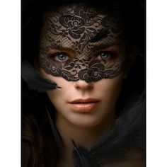 Elegant Masquerade Masks, Veils Obscured Beauty ❤ liked on Polyvore featuring masquerade and masqurade