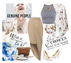 """Genuine People"" by alien-official ❤ liked on Polyvore featuring GINTA, LE3NO, Christian Louboutin, Kosha, women's clothing, women, female, woman, misses and juniors"