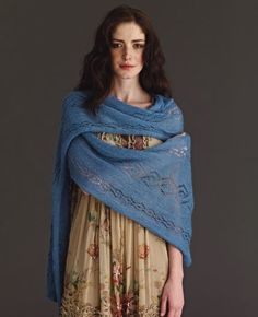 We have never seen a knit wrap so perfect for spring. This Celestial Blue Wrap is not only a lovely subdued blue to match the growing Forget-Me-Nots, but it's lightweight enough to not overheat for those warmer, sunnier days.