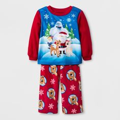 Baby Boys  Rudolph the Red-Nosed Reindeer 2pc Fleece Pajama Set - Red 24M   Red 264acef8f