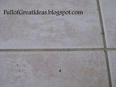 Full of Great Ideas: Fixing Ceramic Tile Chips for $5