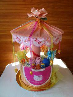 carousel diaper cakes -
