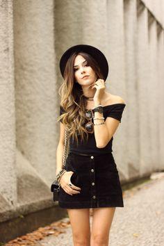 FashionCoolture - look du jour all black lace up shoes button front skirt (2) - http://sorihe.com/fashion01/2018/02/27/fashioncoolture-look-du-jour-all-black-lace-up-shoes-button-front-skirt-2/