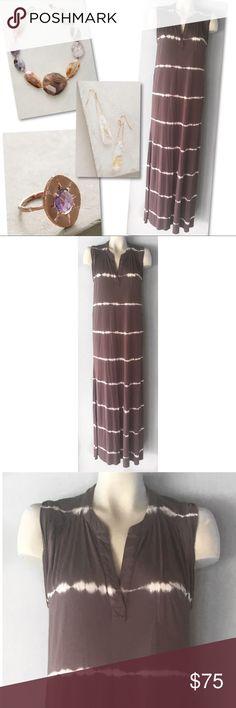 YOUNG FABULOUS & BROKE BROWN STRIPED MAXI DRESS XS YOUNG FABULOUS & BROKE BROWN STRIPED MAXI DRESS SZ XS Young Fabulous & Broke Dresses Maxi