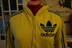 vintage yellow blue adidas track jacket by dieyoungstaypretty