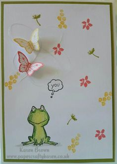 Omgee adorbs. Feelin Froggy. Stampin up. 2016 Hostess sets. Love you lots