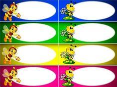 Classroom Displays, Classroom Decor, Baby Shower Gifts To Make, Kindergarten Portfolio, Bee Pictures, School Labels, Bee Party, School Frame, Alphabet For Kids