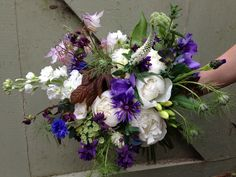 Early June bridal bouquet by The Garden Gate Flower Company