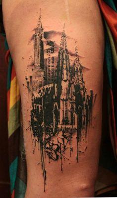 city skyline- gene coeffey