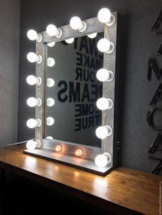 Купить Гримерное зеркало SKY FALL. 60-80 - голубой, зеркало, гримерное зеркало, гримерка