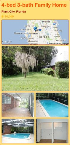 4-bed 3-bath Family Home in Plant City, Florida ►$170,000 #PropertyForSale #RealEstate #Florida http://florida-magic.com/properties/15754-family-home-for-sale-in-plant-city-florida-with-4-bedroom-3-bathroom