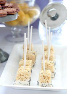 Purple, Yellow & Gray Baby Shower - Rice Krispy Treats