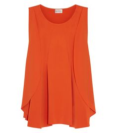 Draped Stretch-Cady Top