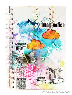 Such a Gorgeous Art Journal Page by Meihsia for the Simon Says Stamp Monday challenge (Up In The Clouds)