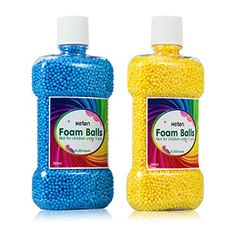 Foam Balls for Slime - Keten Colorful Styrofoam Balls Beads pcs) Bottle Packed, Decorative Ball Arts DIY Crafts, Supplies for Homemade Slime, Kid's Craft, Wedding and Party Decoration Preschool Crafts, Crafts For Kids, Diy Crafts, Things To Make Slime, Mermaid Slime, Little Live Pets, Frozen Toys, Barbie Kitchen, Slime For Kids