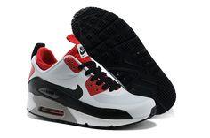 Femmes Nike Air Max 90 Milieu NO SEW Chaussures de course Blanc/Noir