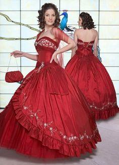 red sweetheart dress