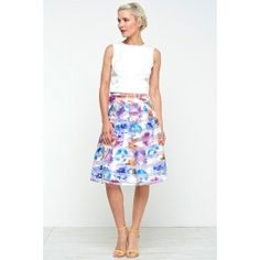 Kelly Pleated Skirt in Floral Print