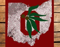 Ohio State Brutus Mosaic Digital Print by TaracottaSunrise on Etsy