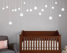 DECORATIONS! Hanging Stars - Nursery and Kid's Room Shapes Wall Decals