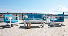 Muebles de Jardín y Terraza Conjunto ALHAMA de 5 plazas fabricado en Aluminio de 1ª calidad y fabricacion nacional En www.jardinter.com #mobiliarioexterior #diseño #jardinter