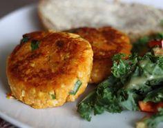 Mini Hambúrguer de Batata Doce e Tofu
