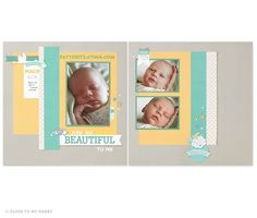 Simply stunning baby layouts using the CTMH Georgie collection.  Check it out here pattibitz.ctmh.com.