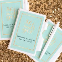 Personalized She Said Yes Notebooks