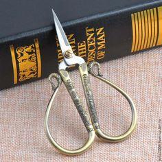 Купить Ножницы винтажные - темно-серый, винтажный, ножницы, подарок подруге, винтаж, для рукоделия, бронзовый