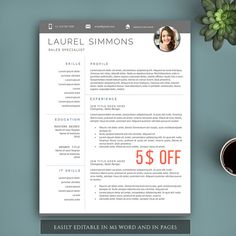 Creative Resume Template for Word and Pages 123 by VisionTemplates