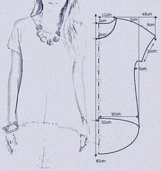 molde bata com manga Картинка Square off the armscye and make a little wider at the shoulder instead of sleeves . make into a poncho (okay, is everyone tired of my poncho penchant yet? Discover thousands of images about Pinned onto DIY Fashion Boa Tunic Sewing Patterns, Sewing Blouses, Sewing Shirts, Blouse Patterns, Clothing Patterns, Sewing Hacks, Sewing Tutorials, Sewing Projects, Costura Fashion