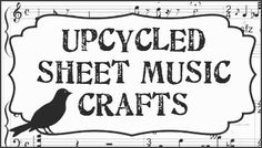 ≈Dishfunctional Designs: Upcycled Sheet Music Crafts (papercrafts and altered) - great idea for Christmas music and decorations!