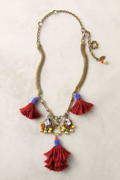 tassel exhibit necklace by anthropologie