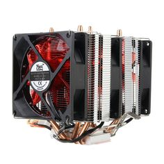 4 Heat Pipes Red LED 3 CPU Cooling Cooler Fan Heatsink for AMD AM2/2+ AM3 Intel LGA 1156
