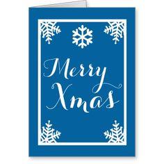 Crystal Snowflake Christmas Greeting Card