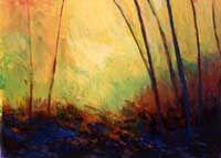 Trees in Yellow Light, Roger Carlisle