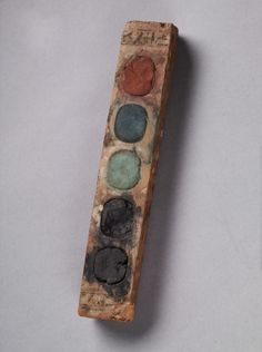 Paint box of Vizier Amenemope.  Egypt, Dynasty 18, reign of Amenhotep II, circa 1427-1401 BC.