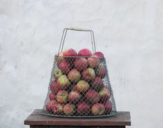 Vintage metal wire basket   Egg fruits basket  Made in by OldBox, $20.00