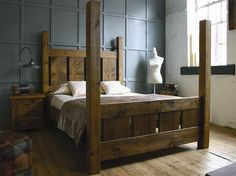 H&F Plank Normandy 4 Poster Bed