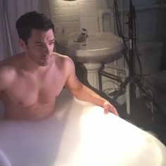 Pin for Later: The Property Brothers Video Clips You Won't See on HGTV The One Where Drew's Shirtless