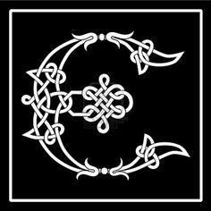 E Celtic knot-work letter