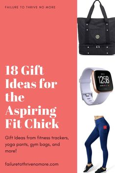 Gift Ideas for the Fit Chick #Fitness #GiftGuide #Yoga #Fitbit #GymBag