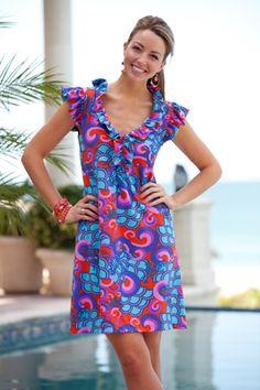 Taylor Ruffle Dress By Tracy Negoshian