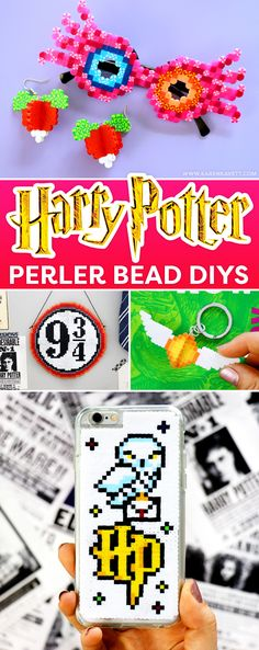 DIY Harry Potter Perler Bead Crafts - @karenkavett